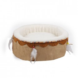 All For Paws Cama para Gatos Dreams Catcher Redonda   - Beige
