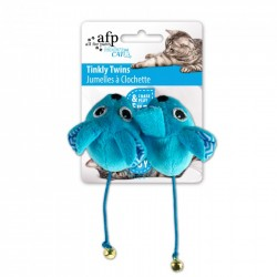 All For Paws Juguetes para Gatos MODERN CAT  - Tinkly Twins - Azul/Verde/Naranja/Rosa 6cm