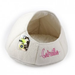 All For Paws Cama Nido Catzilla para Gatos  - Blanco