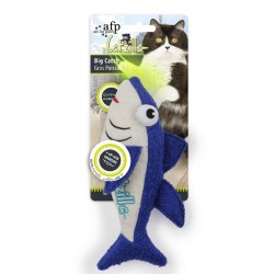 All For Paws Juguetes Grandes Catzilla para Gatos  - Big Catch - Atún/Tiburón/Goldfish 21,5cm