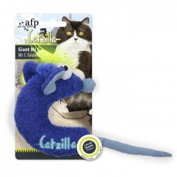 All For Paws Juguetes Grandes Catzilla para Gatos  - Gigante Mr C - Verde/Azul/Rosa 14cm