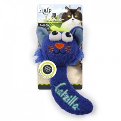 All For Paws Juguetes Grandes Catzilla para Gatos  - Putt Cat - Azul/Verde/Rosa 16,5cm