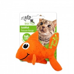 All For Paws Juguetes Para Gatos Green Rush Catnip Animales  - Goldfish 13cm