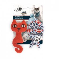 All For Paws Juguetes Vintage para Gatos con Catnip - Mejores Amigos 11,5cm