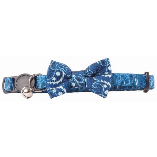 Collar Ajustable para Gatos Pawise Lazo Azul