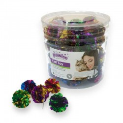 Pawise Cubo con Juguetes para Gatos  - Crinkle 24uds