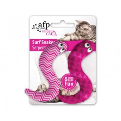 All For Paws Juguetes para Gatos MODERN CAT  - Serpiente Surf - Azul/Verde/Naranja/Rosa 10cm