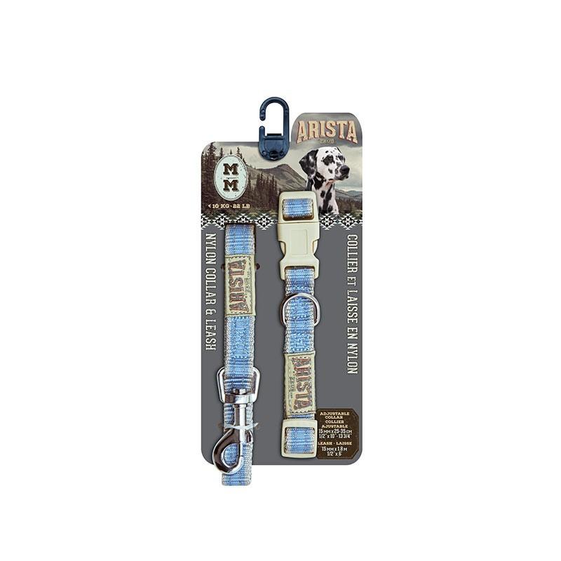 Arista/Zeus Collar&Correa Med. Azul 1,5×35-55cm