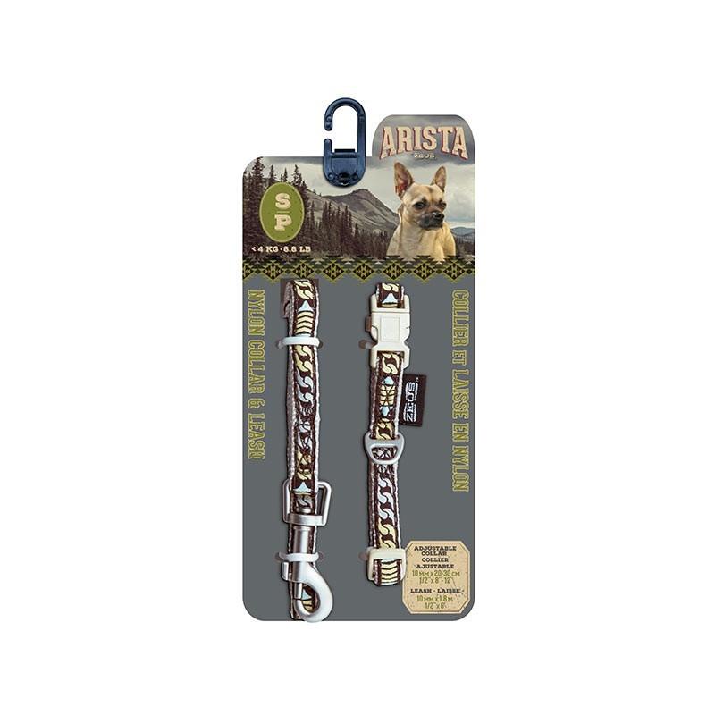 Arista/Zeus Collar&Correa Peq. Bluegrass 1×20-30cm