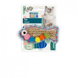 All For Paws Juguetes para gatos Whisker Fiesta - Pez 9,5x4,5x1,8cm