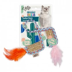 All For Paws Juguetes para gatos Whisker Fiesta - Tormenta de plumas 45x3x0,5cm