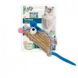 All For Paws Juguetes para gatos Whisker Fiesta - Ratón taco 18x5x1,5cm