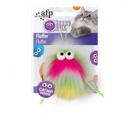 All For Paws Juguetes para gatos Furry Ball - Fluffer Rosa 15x8x3,5cm