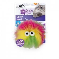 All For Paws Juguetes para gatos Furry Ball - Fluffy Ball Rosa 9,5x9,5x5cm