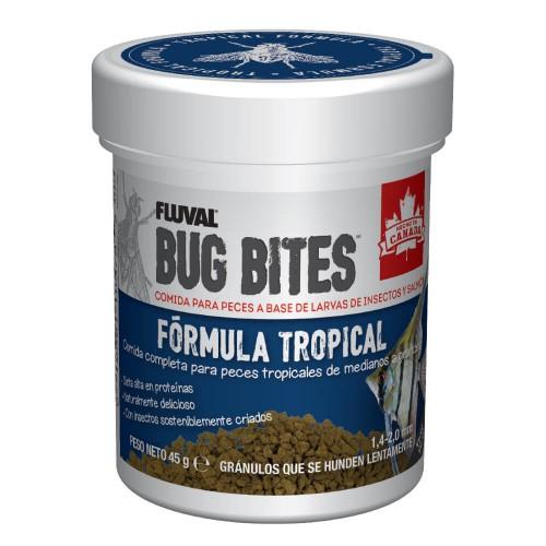 Fluval Bug Bites Tropical 45g Gránulo 1,4-2mm