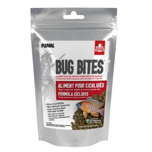 Fluval Bug Bites Cíclidos Gránulos 100g 5-7mm