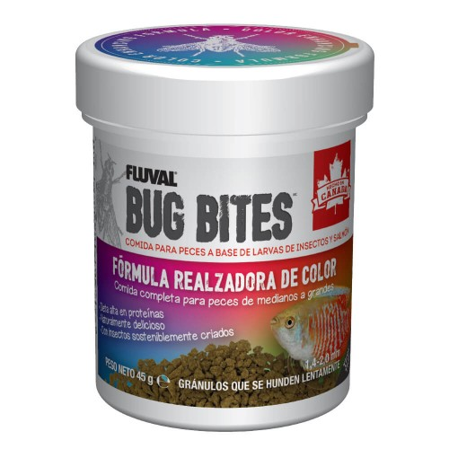 Fluval Bug Bites Color Gránulos 45g 1,4-2mm