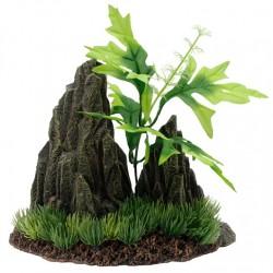Adornos para acuarios MARINA - Roca/Planta 14x9,5cm