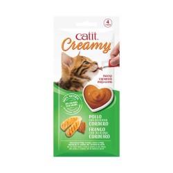 Catit Creamy Snack Cremoso 4 tubos - Pollo/Cordero