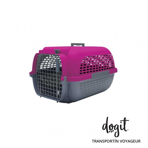 Dogit Pet Voyageur para perros Peq. Fucsia/Gris