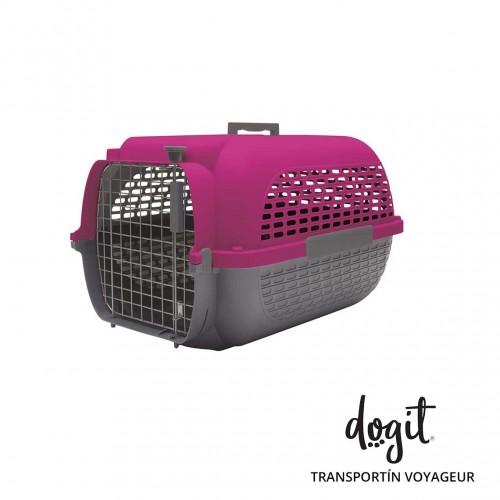 Dogit Pet Voyageur Med. Fucsia/Gris