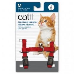 Arnés ajustable de nailon Catit  - Rojo Med.
