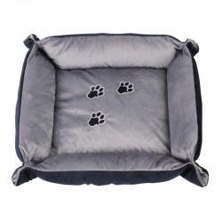 Cama Rectangular Delux Pawise para gatos - Azul/Gris