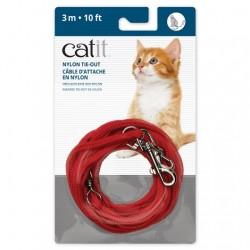 Correa de amarre de nailon Catit - 3m Rojo