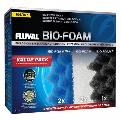 Fluval 107 Bio-Foam Pack 6 Meses