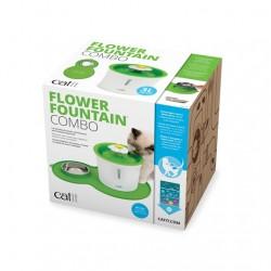 Combo Flower Fountain con Alfombra y Comedero Catit