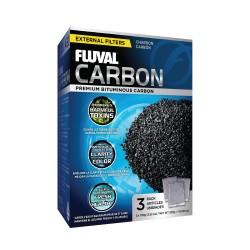 Carbón Activado para Filtros Externos Fluval - 3 x 100g