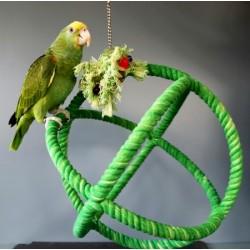 Juguetes de enriquecimiento para pájaros HARI - Órbita, L
