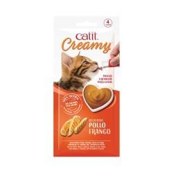 Catit Creamy Snack Cremoso  Pollo 10g - 4   und