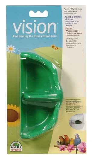 VISION Tazas para Semilla/Agua Verde