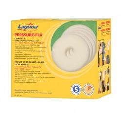 Foamex Repuesto para Filtro Pressure Flo LAGUNA  - 12000 l 5 unid