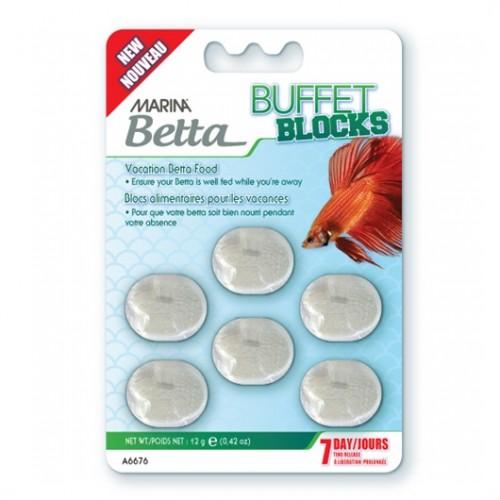 Alimento para peces Bloques Betta Buffet 7 Dias 12g MARINA
