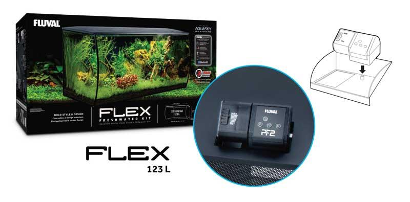Alimentador automático para Fluval Flex de 123L