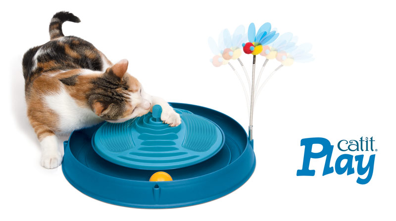 Circuito Catit Play con masajeador con catnip