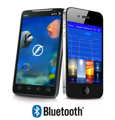 Las pantallas LED Fluval Marine Spectrum se pueden controlar por móvil