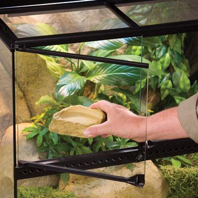 EXO TERRA terrario de cristal nano reptiles puerta