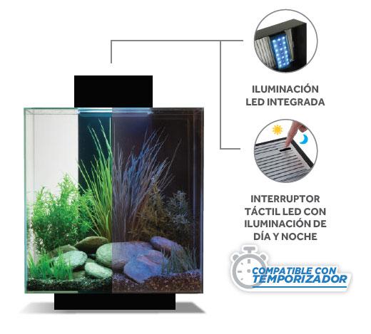 Iluminación LED para acuarios integrada