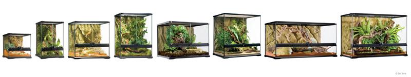 EXO TERRA terrario de cristal nano reptiles