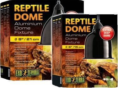 reptile dome portalámpara aluminio