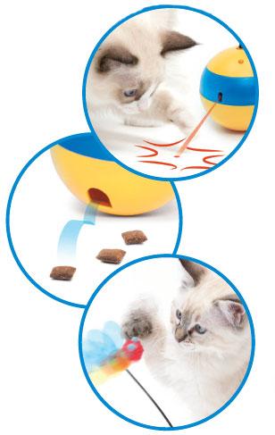 Juguete de rayos laser para gatos Tumbler Bee
