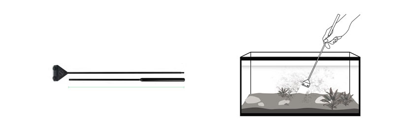 Rasqueta para Aquascaping