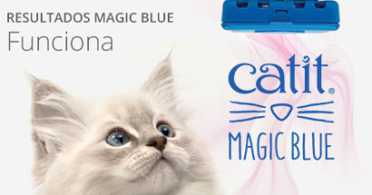 Catit Magic blue reduce los olores del gato en el arenero