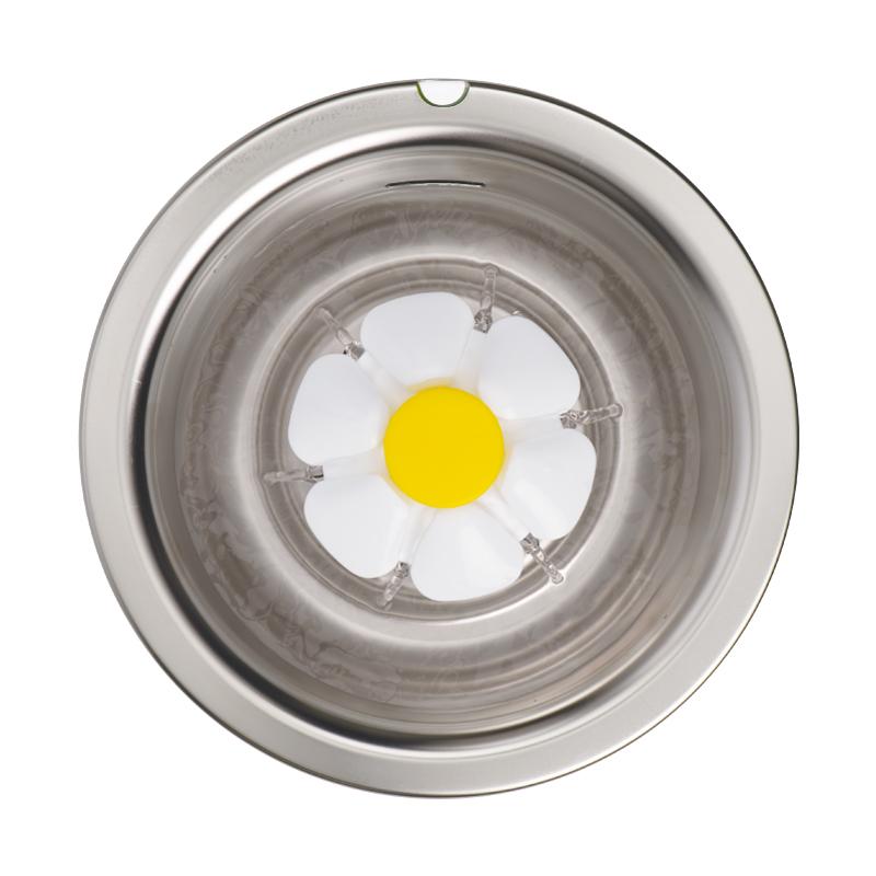 Fonte de flores LED de aço inoxidável Catit
