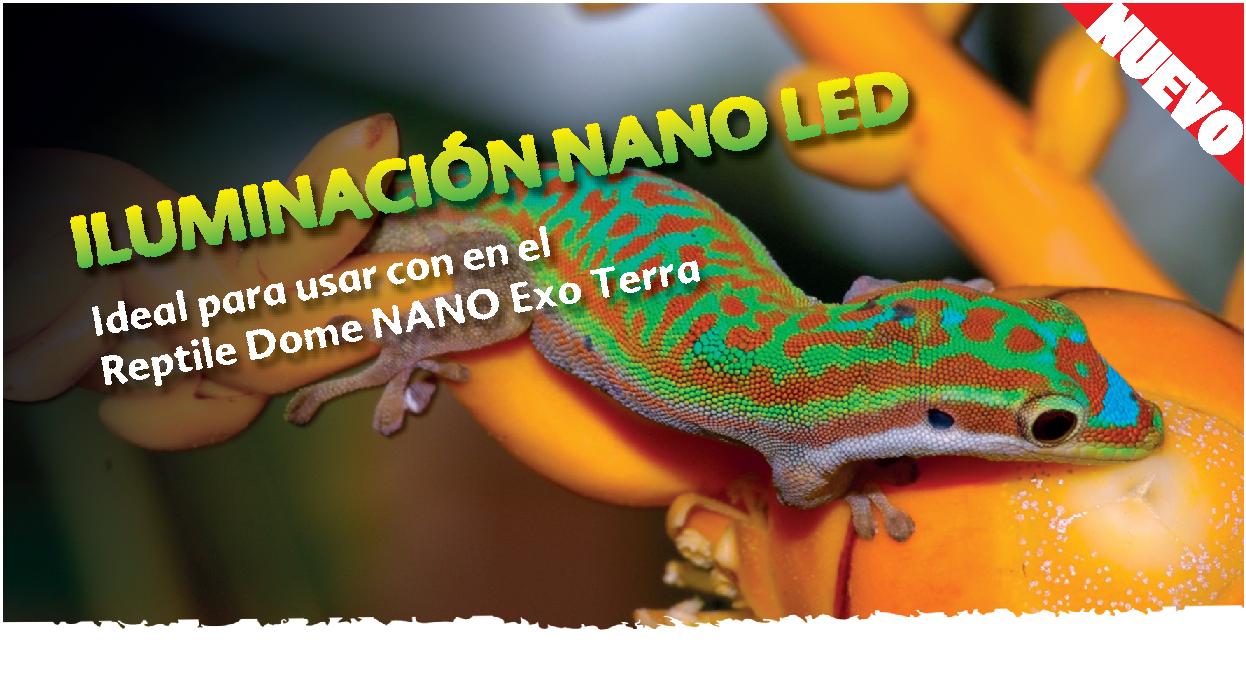 Banner web de la iluminación Nano LED de Exo Terra
