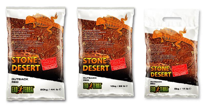 Tres formatos de Sustrato Stone Desert rojo del Outback