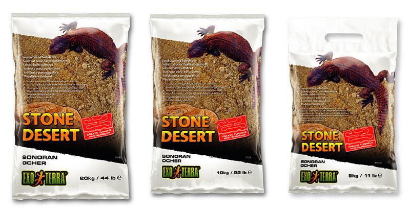 Tres formatos de Sustrato Stone Desert ocre del Sonora